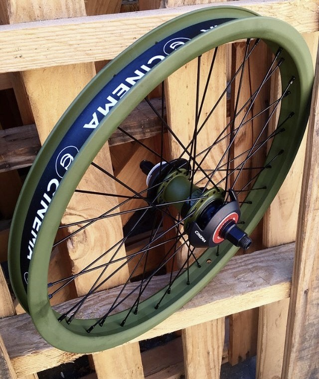 Reinforced front wheel bmx 20 inch rim 48 spokes tire dirt freestyle trailer