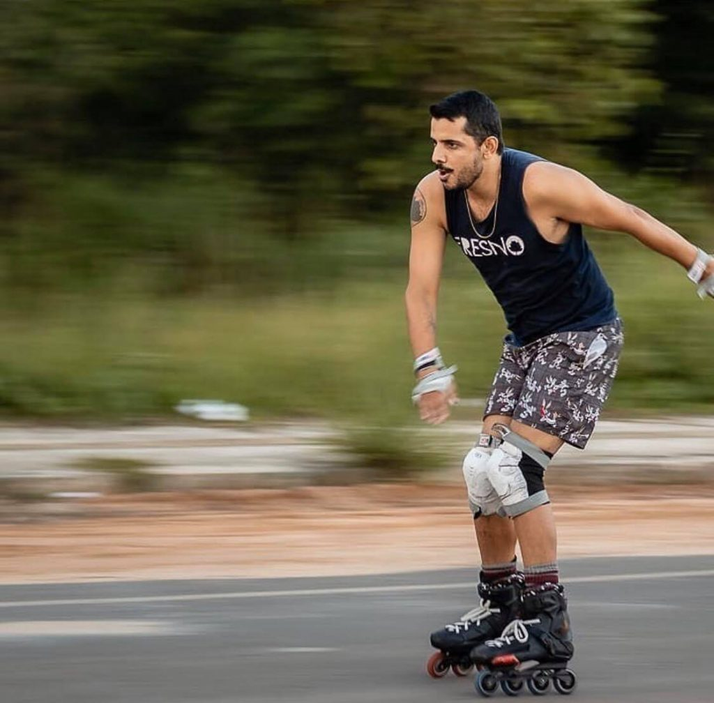Rollerblading is great for exercising